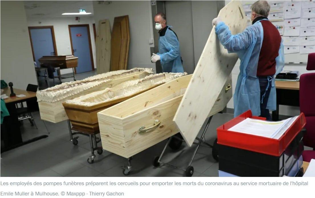 entrepôt dédié à l'accueil des cercueils